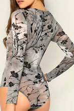 Load image into Gallery viewer, Sheer Jacquard Skinny Bodysuit