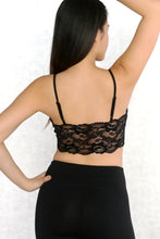 Load image into Gallery viewer, Lace Panel Crop Cami Top
