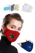 Load image into Gallery viewer, Waterproof Anti Dust Mask with Disposable Mask Filter - Red