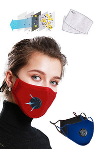 Waterproof Anti Dust Mask with Disposable Mask Filter - Navy