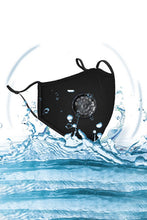 Load image into Gallery viewer, Waterproof Anti Dust Mask with Disposable Mask Filter - Black