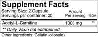 Nutrakey Acetyl-L-Carnitine 60 caps