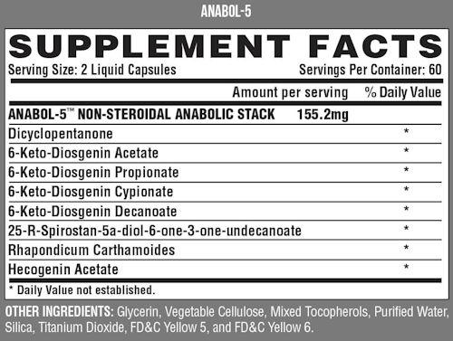 Nutrex Anabol 5 Muscle Builder Fact