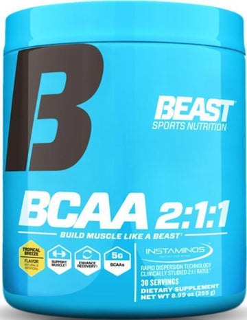 Beast Sports Nutrition BCAA 2:1:1 Powder (Discontinue Limited Supply)