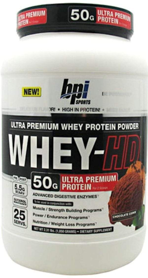 BPI Sports Protein Chocolate Cookies BPI Sports Whey-HD 25 servings BLOWOUT SALE $19.99