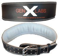 "GenXLabs Accessories Belt Small GenXLabs Padded Weight Lifting Belt 4"" (save20)"
