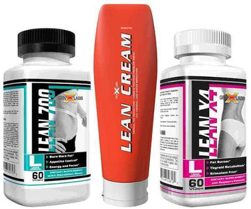 GenXLabs Lean Weight Loss Stack- Lean Cream, Lean 700, LeanX4