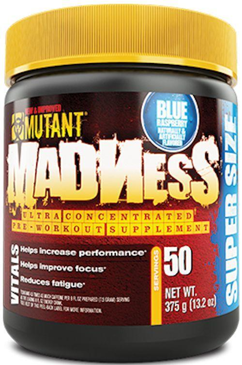 Mutant Nutrition Muscle Pumps Blue Raspberry Mutant Madness 50 servings