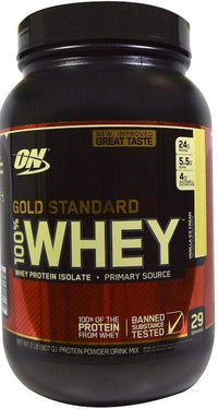 Optimum Nutrition Protein VANILLA ICE CREAM Optimum Gold Standard 100% Whey 2 lbs