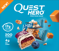 Quest Protein Bars Blueberry Cobbler Quest Hero Bars  box of 10