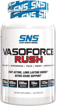 Serious Nutrition Solutions GlycerPump SNS Vasoforce Rush 125 Caps