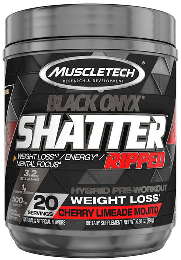 Muscletech Shatter Ripped Black Onyx 20 servings
