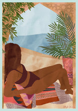 Load image into Gallery viewer, Beach Bliss art print by Ella Blakey