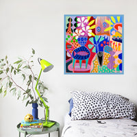 Colourful art print by Marianne Angeli Rodriguez
