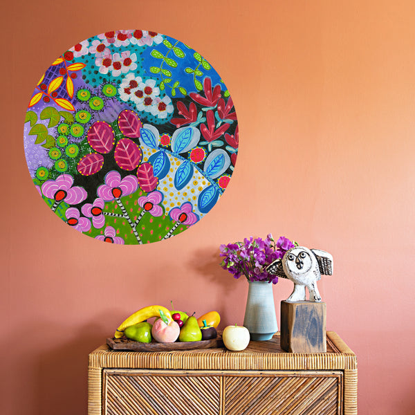 Flower Festival Round Wall Sticker