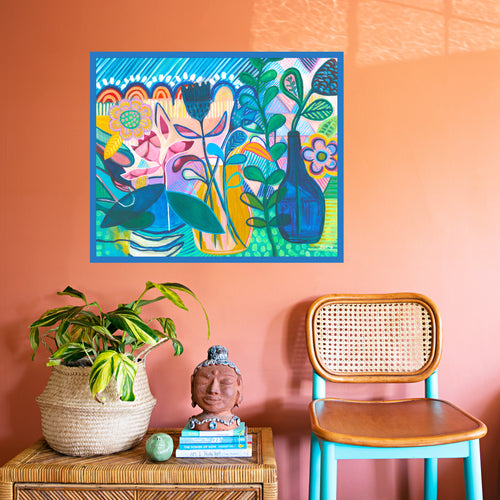 Colourful art print by JL Harry