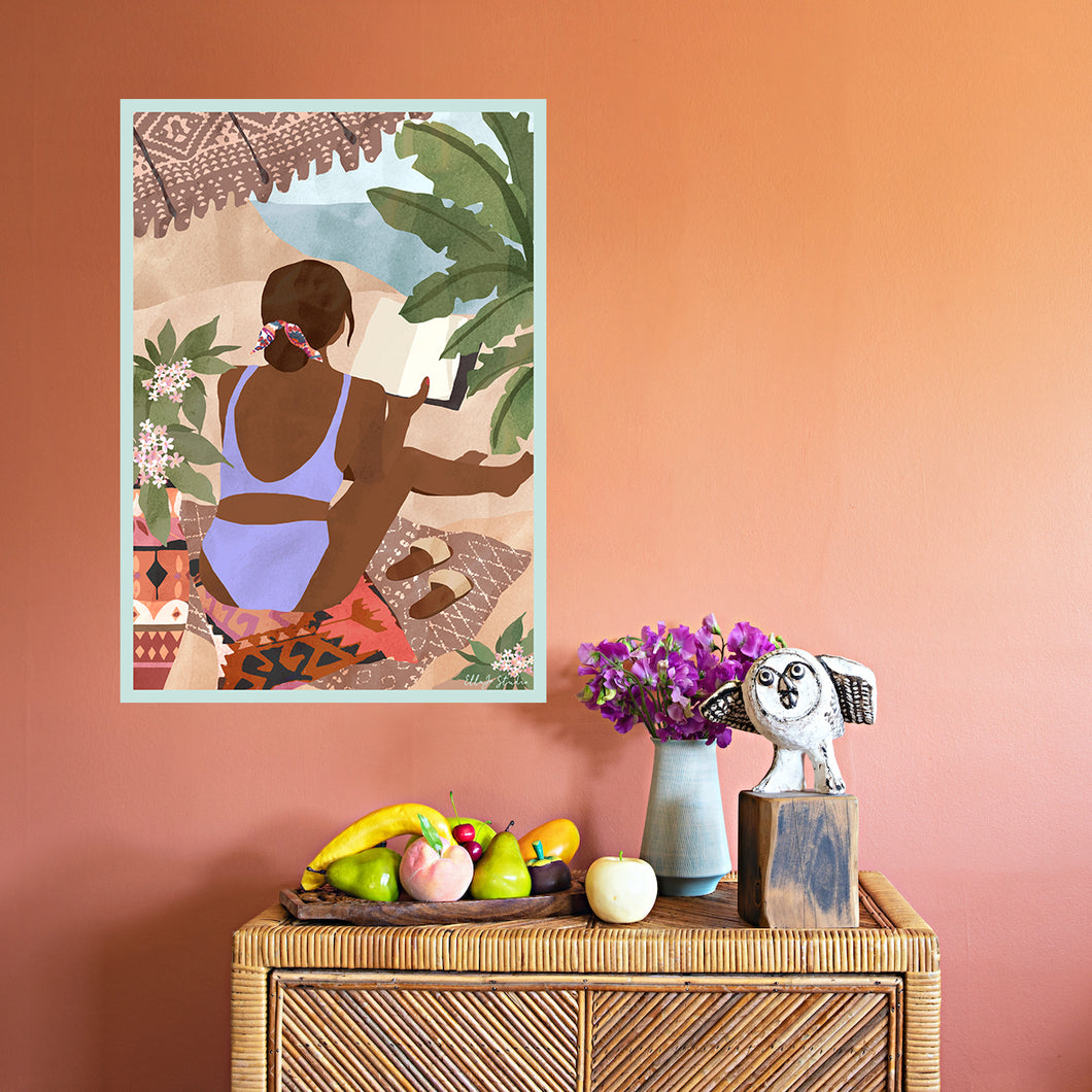 Summer Shade Art Print by Ella Blakey