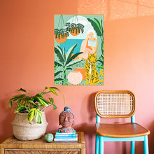 Load image into Gallery viewer, Tropical Vacay Art Print by Uma Gokhale