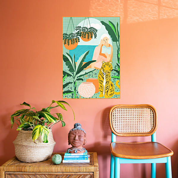 Tropical Vacay Art Print by Uma Gokhale (Non-Adhesive)