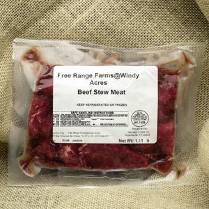 Stew Meat - 100% Grass Fed and Finished