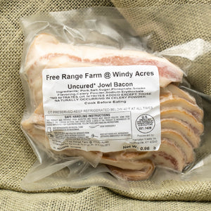 Jowl Bacon (Uncured) - Heritage Pasture Raised Pork