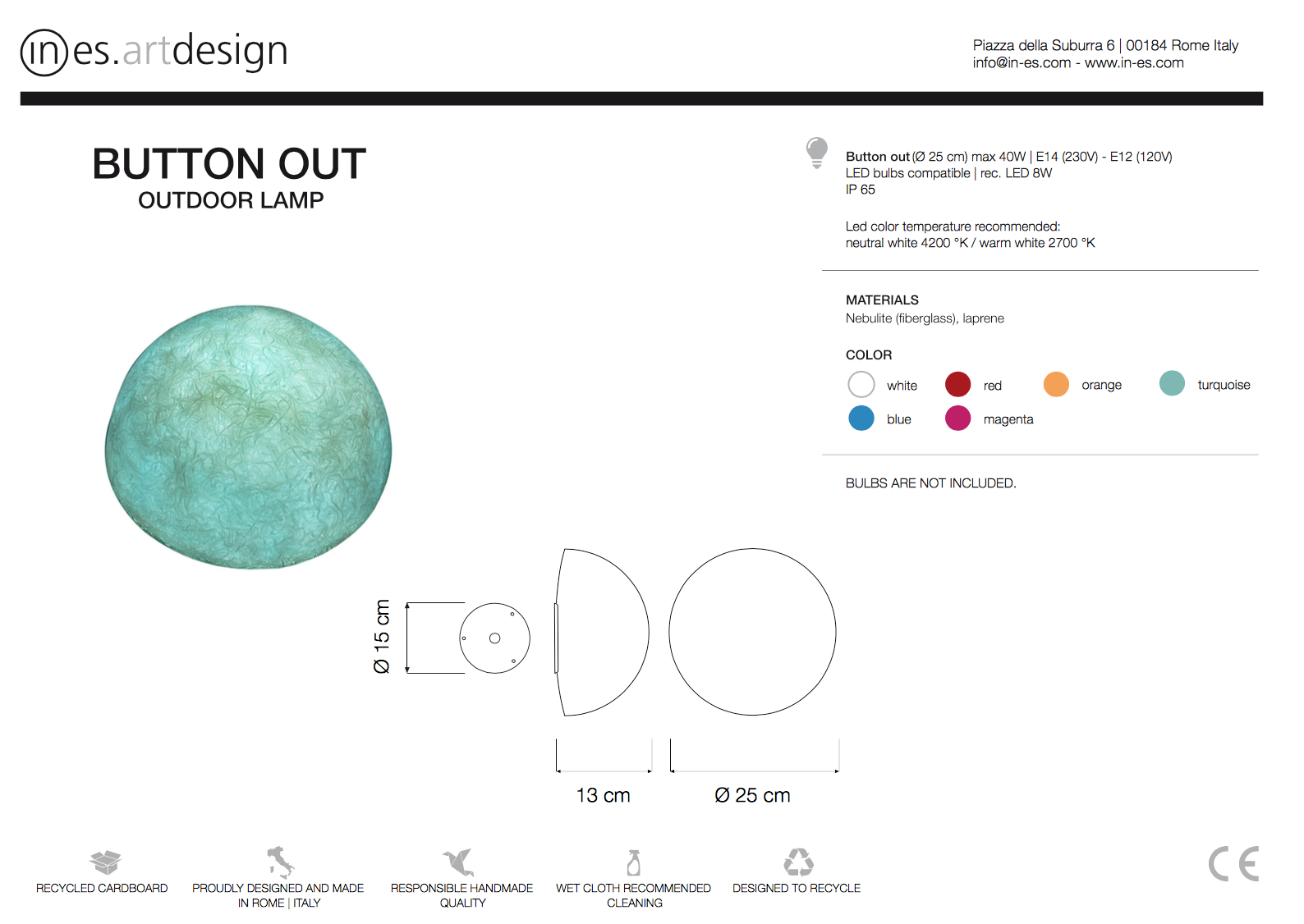 Button Out Wall Light In Es Art Design