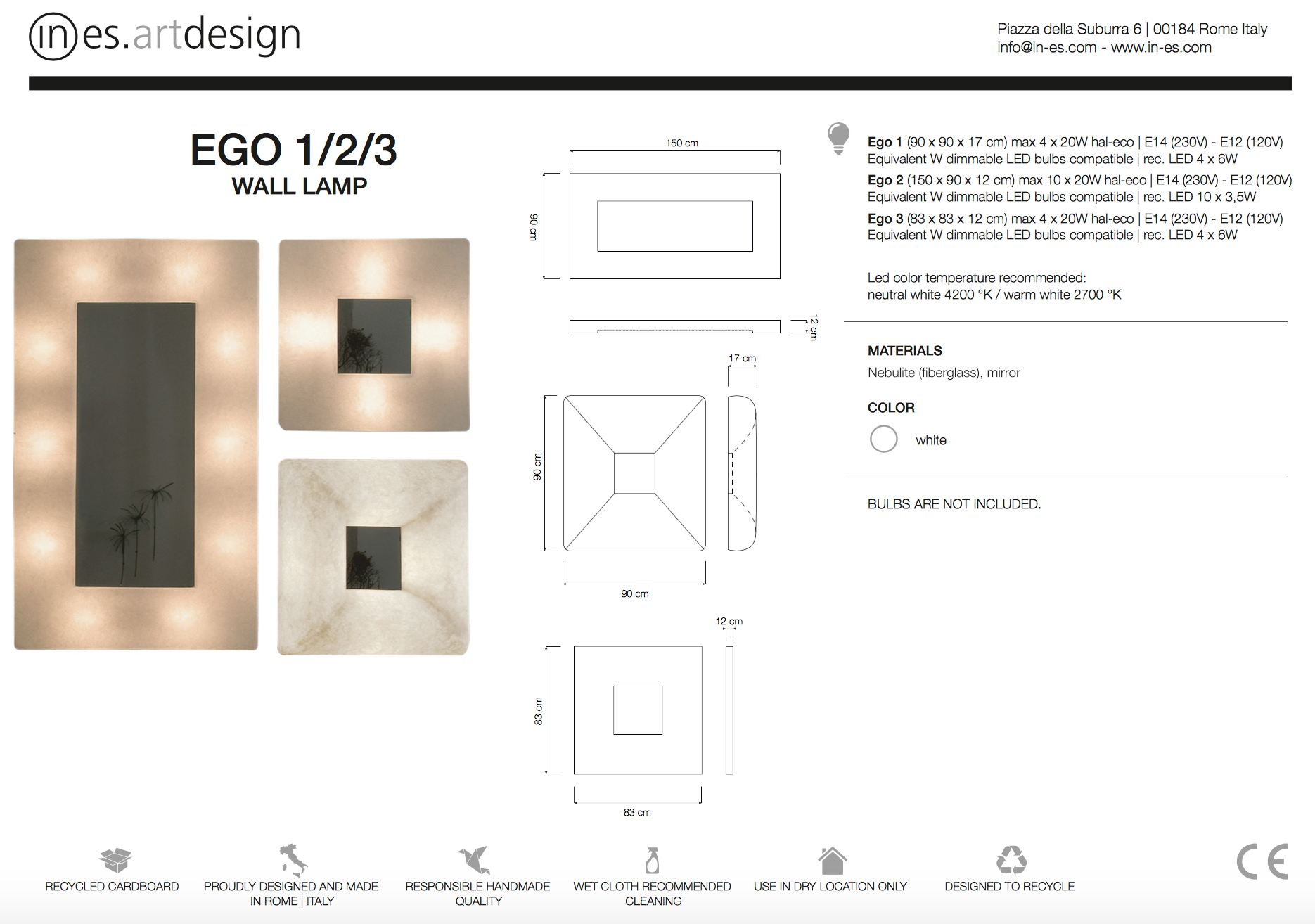 Ego Wall Mirror Light In Es Art Design