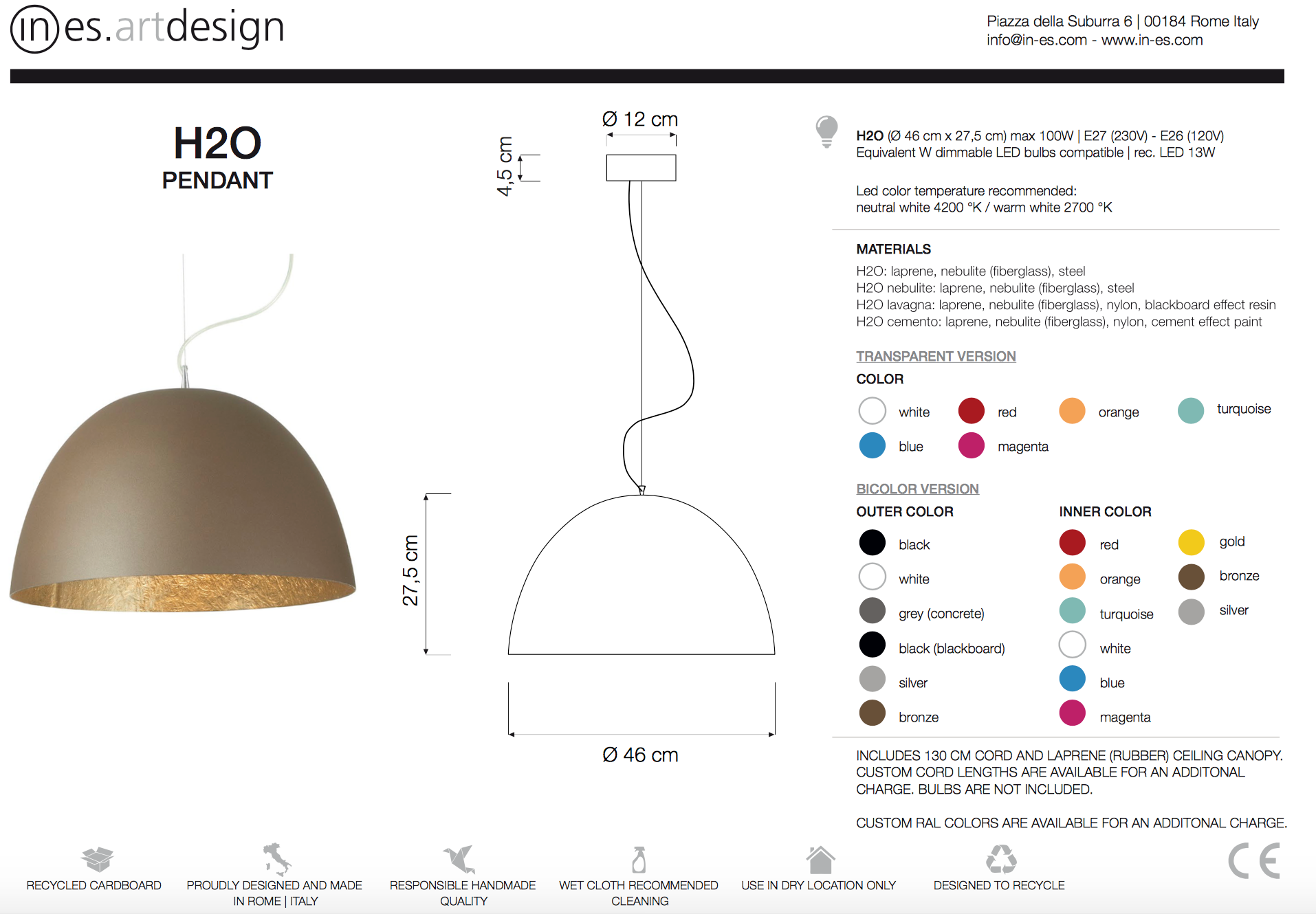 H2O Pendant Light In Es Art Design