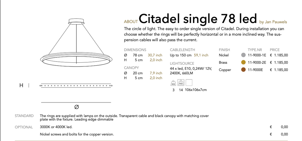Citadel single led