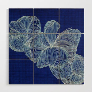Wood Wall Art-Blue Jelly