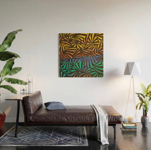 Wood Wall Art-Palm