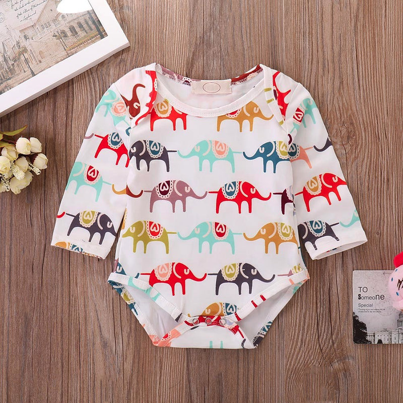 Long Sleeve Elephant Romper