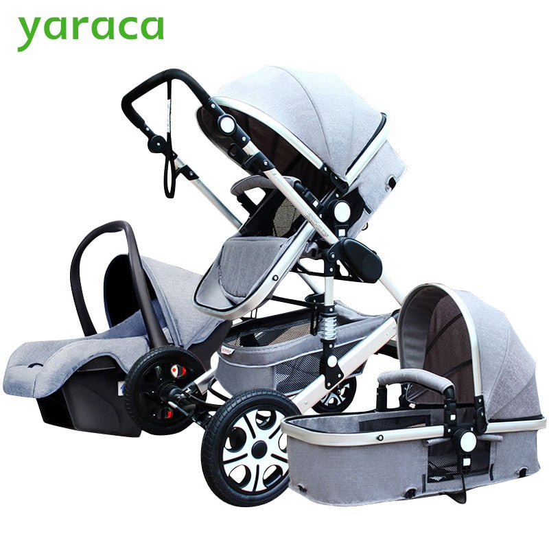 Luxury Baby Stroller 3 In 1 With Car seat Pram