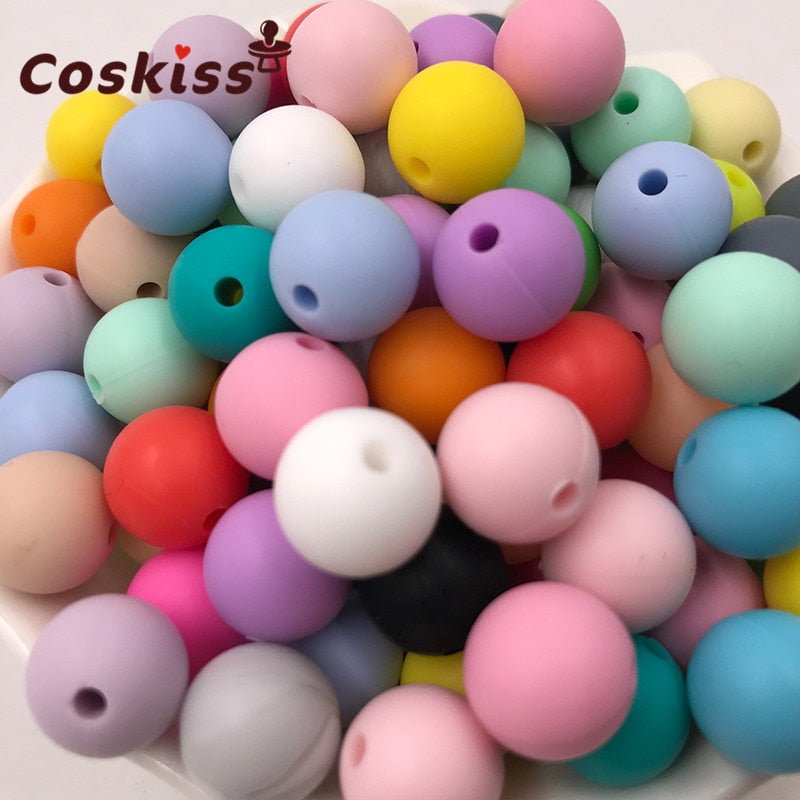 100pc Silicone Baby Teething Teether Beads