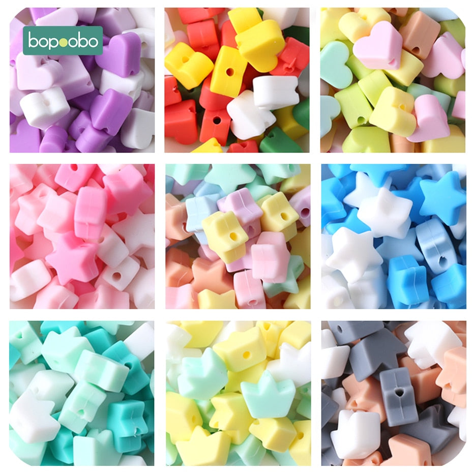 40PC Silicone Beads Teething Teether