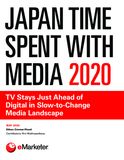 Japan Time Spent with Media 2020: TV Stays Just Ahead of Digital in Slow-to-Change Media Landscape