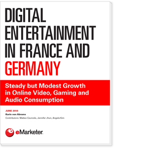 Digital Entertainment in France and Germany: Steady but Modest Growth in Online Video, Gaming and Audio Consumption