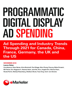 Programmatic Digital Display Ad Spending: Ad Spending and Industry Trends Through 2021 for Canada, China, France, Germany, the UK and the US