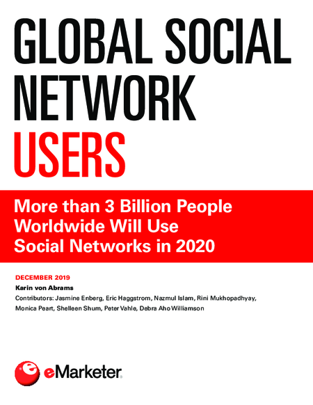 Global Social Network Users: More than 3 Billion People Worldwide Will Use Social Networks in 2020