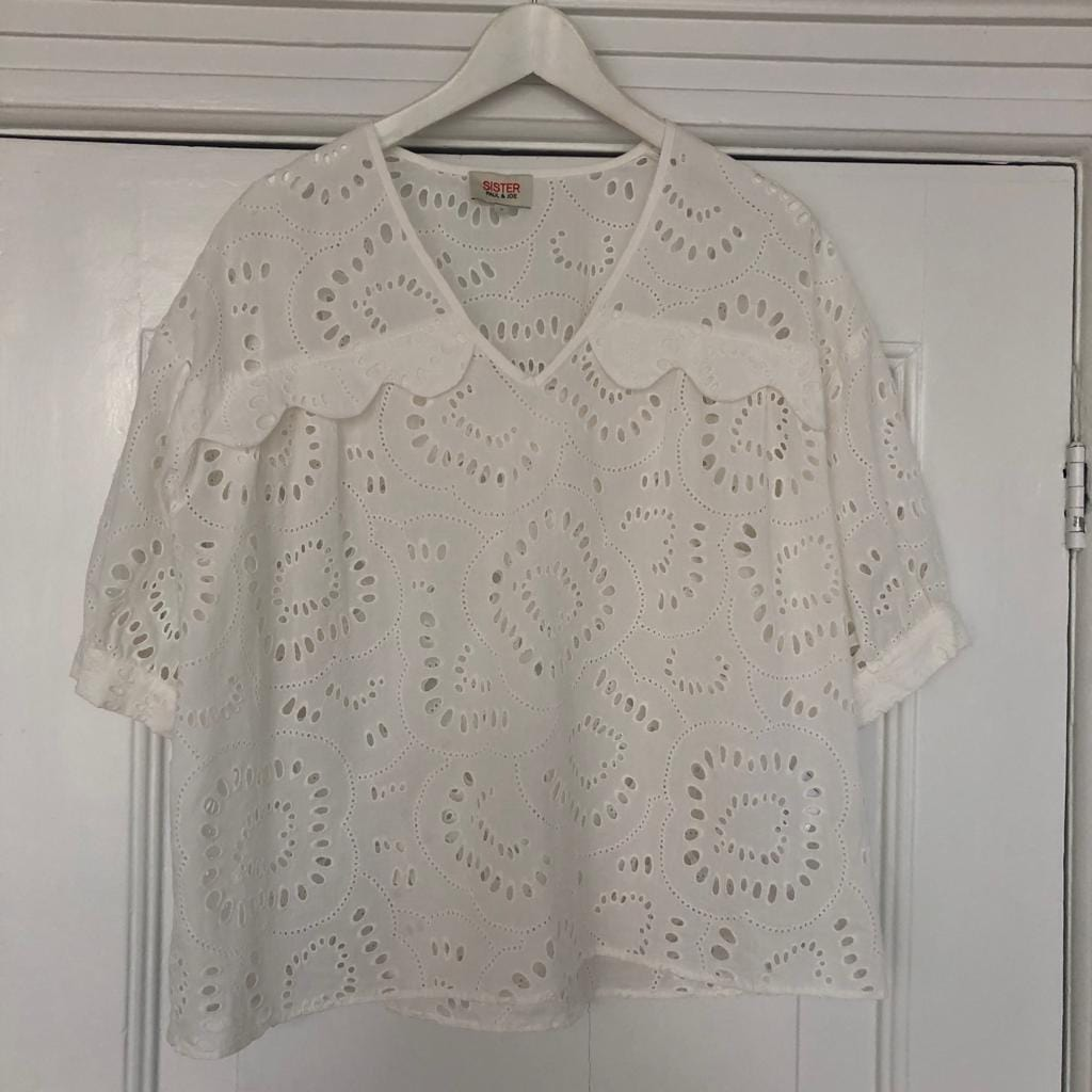 Paul & Joe Sister embroidered lace top