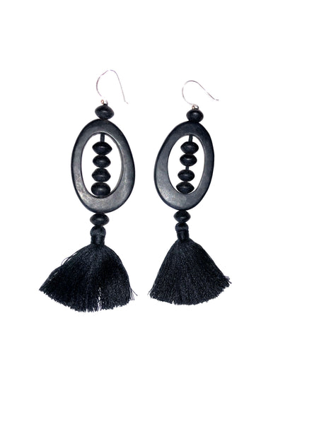Allia Statement Earrings - Black