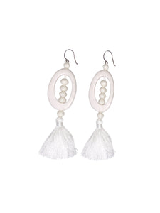 Allia Statement Earrings - White