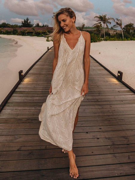 Sasha Dress - Boho Texture Beige