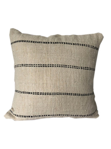 Tribal Cream Textured & Embroidered Cushion 50 x 50 cm