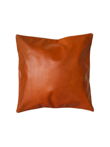 Leather accent Cushion Tan 40 x 40 cm