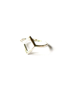 Sterling Silver Geometric Diamond Shaped Ring