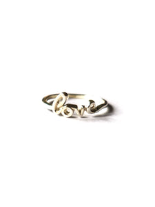 """Love"" Sterling Silver Ring"