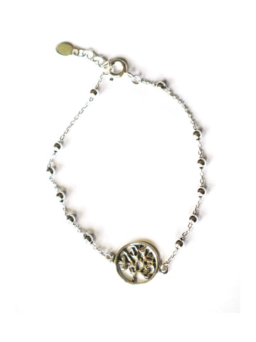 """Tree Of Life"" Sterling Silver Bracelet"