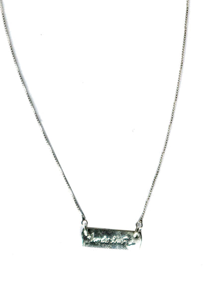 """Wanderlust"" Sterling Silver Necklace"