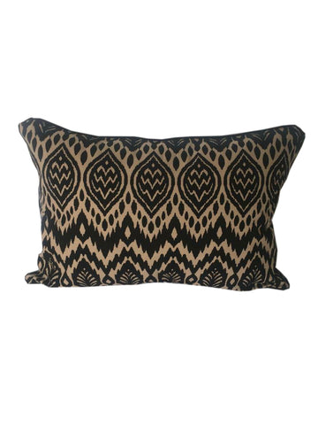 Zambia Black & Beige Cushion 30 x 50 cm